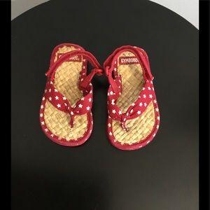 Gymboree Red/White Star Pattern Sandals